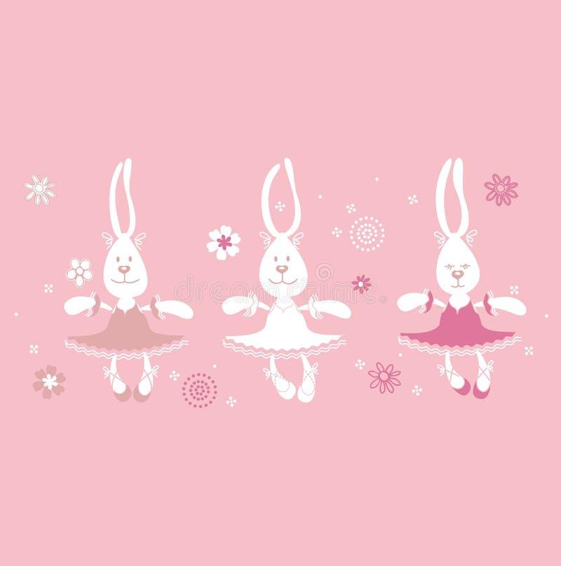 Ballerine delle lepri della stampa illustrazione di stock