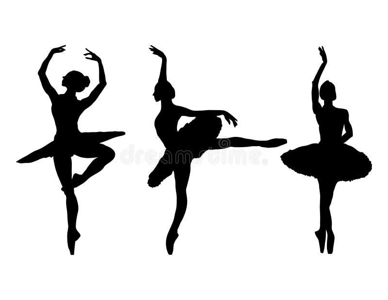 Ballerine gracieuse sur un fond blanc illustration stock