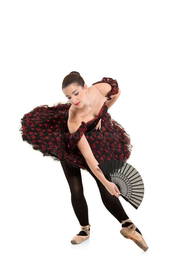 Ballerine jouant le ballet images stock