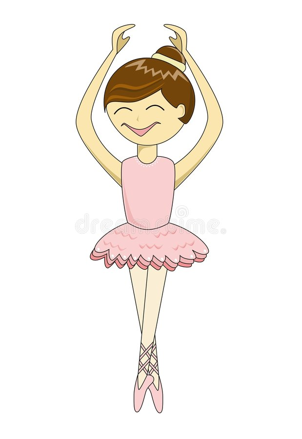 Ballerine mignonne de dessin animé illustration de vecteur