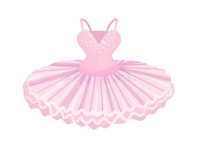 Ballerine rose de robe Illustration de vecteur sur le fond blanc illustration stock