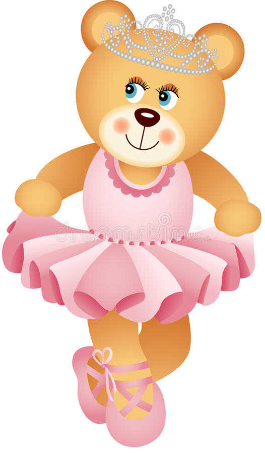 Ballerine Teddy Bear illustration libre de droits