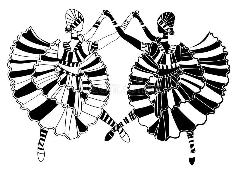 Ballerines illustration stock