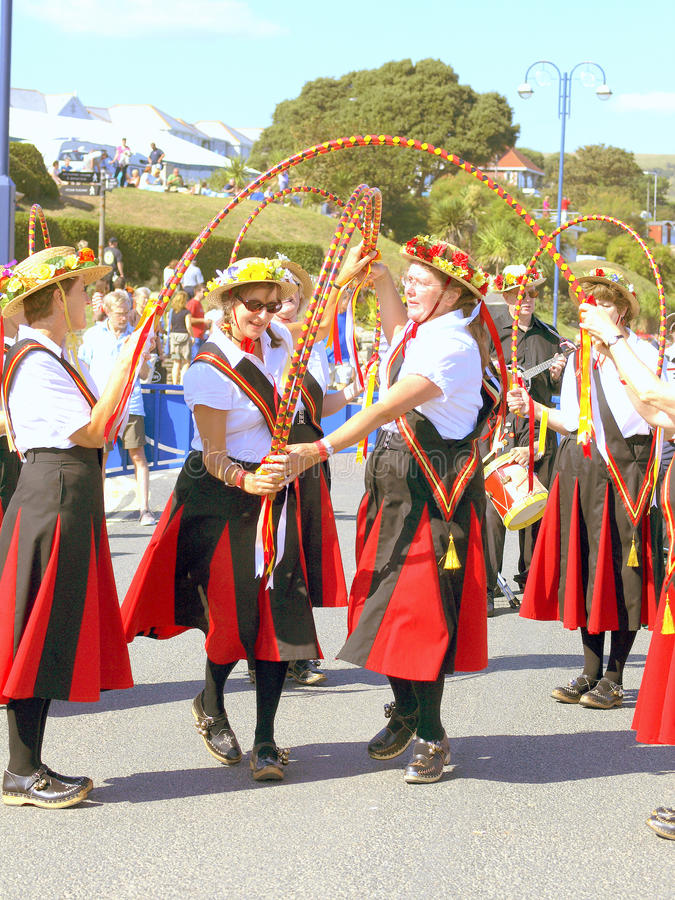 Ballerini al festival piega, Swanage fotografie stock