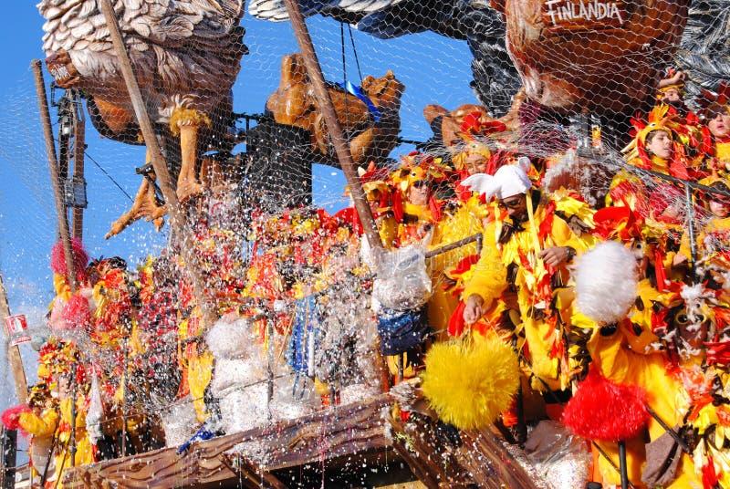 Ballerini del carnevale, Viareggio fotografia stock