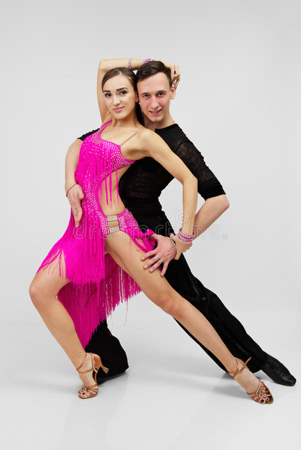 Ballerini del latino fotografia stock