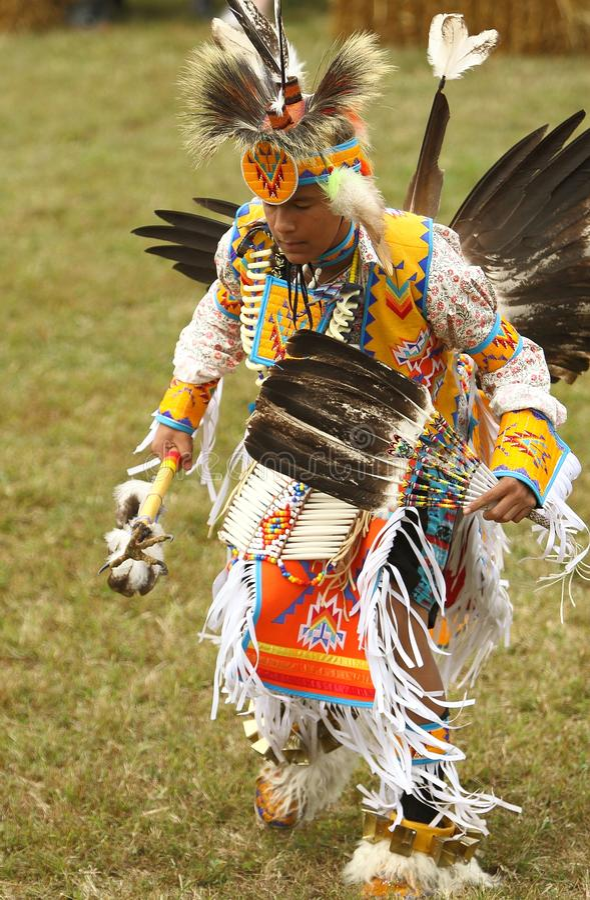 Ballerini del prigioniero di guerra del nativo americano wow fotografie stock