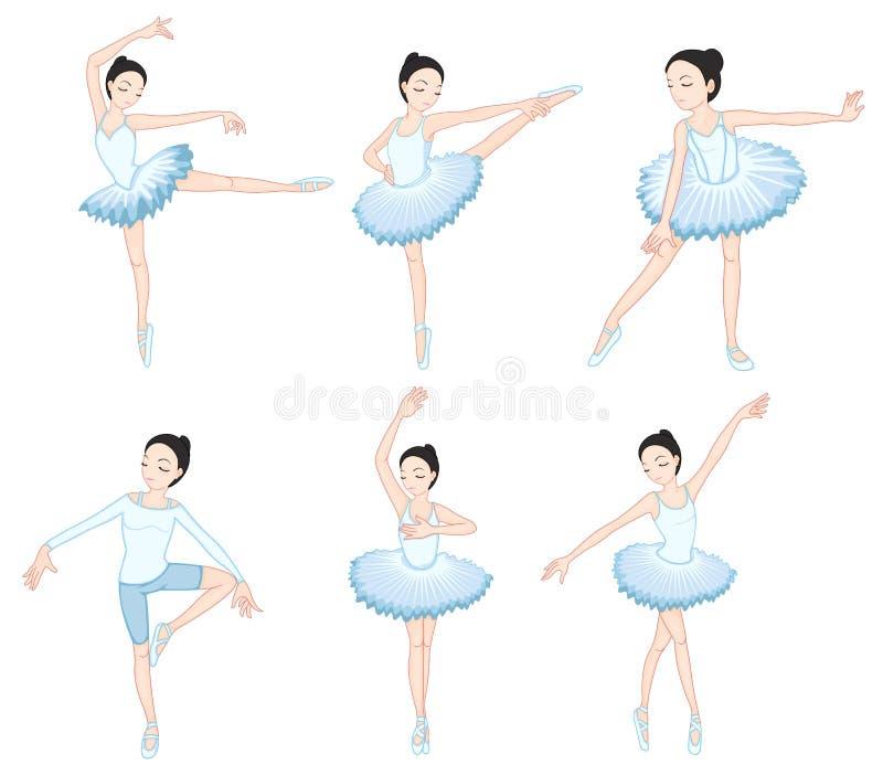 Ballerini di balletto bianchi illustrazione vettoriale