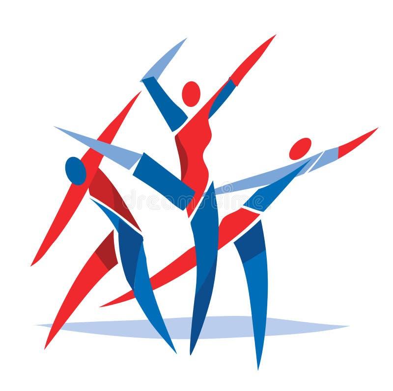 Ballerini di balletto di danza moderna royalty illustrazione gratis