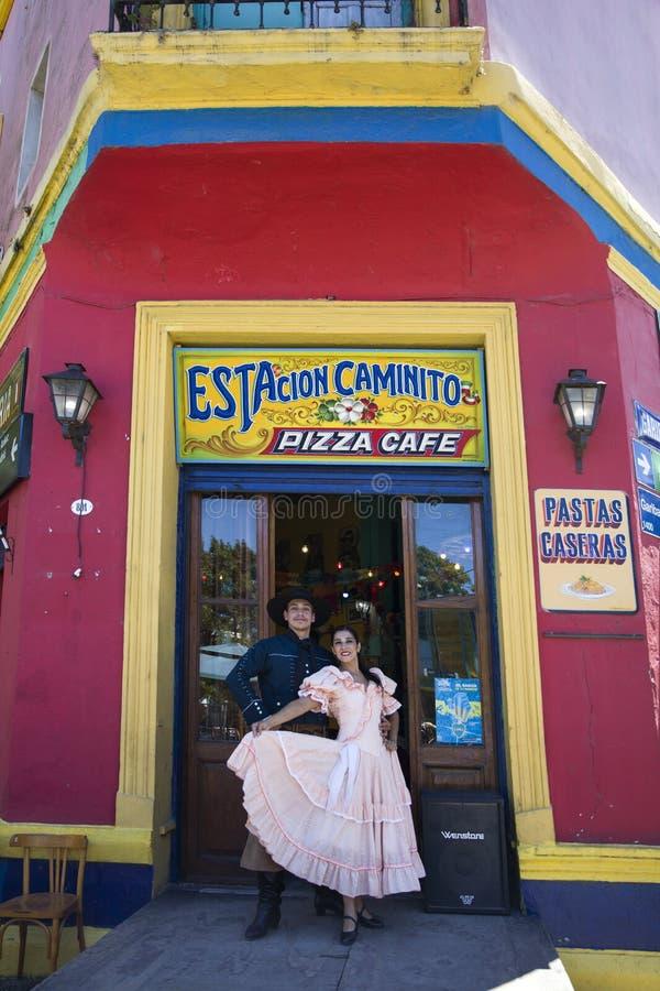 Ballerini di Chacarera da Buenos Aires, Argentina immagine stock libera da diritti