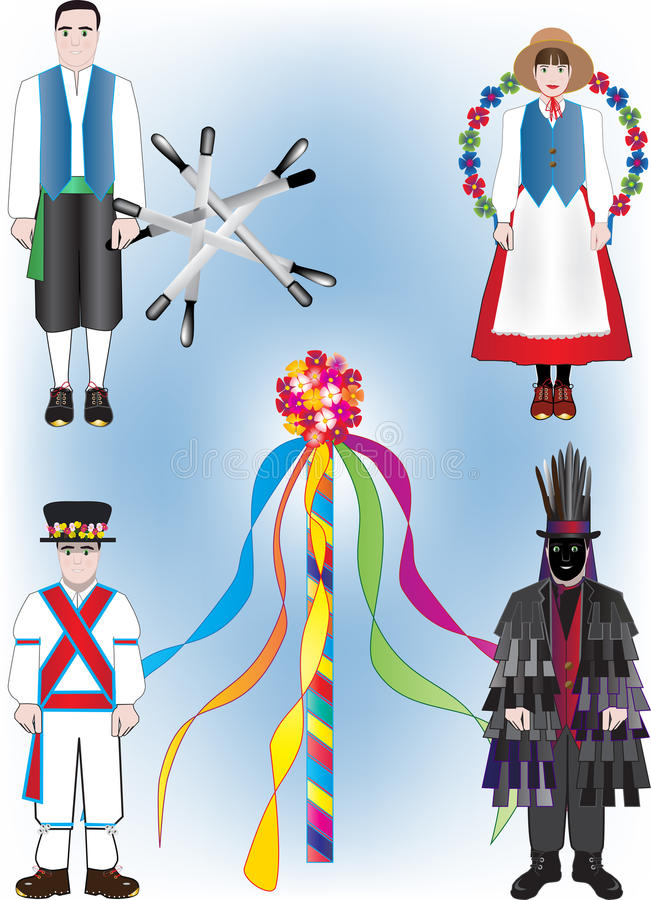 Ballerini di piega illustrazione di stock