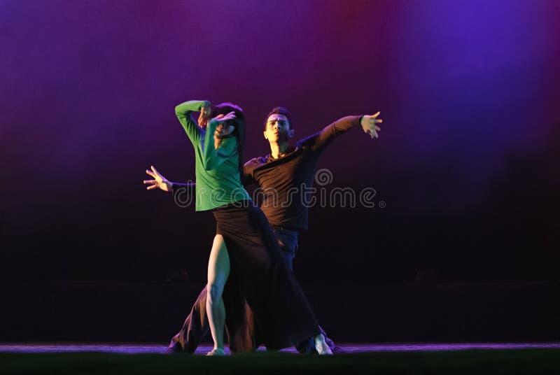 Ballerini moderni cinesi di duo fotografia stock