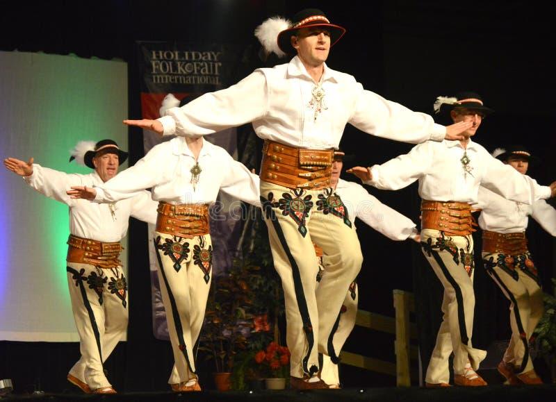 Ballerini polacchi del maschio immagini stock