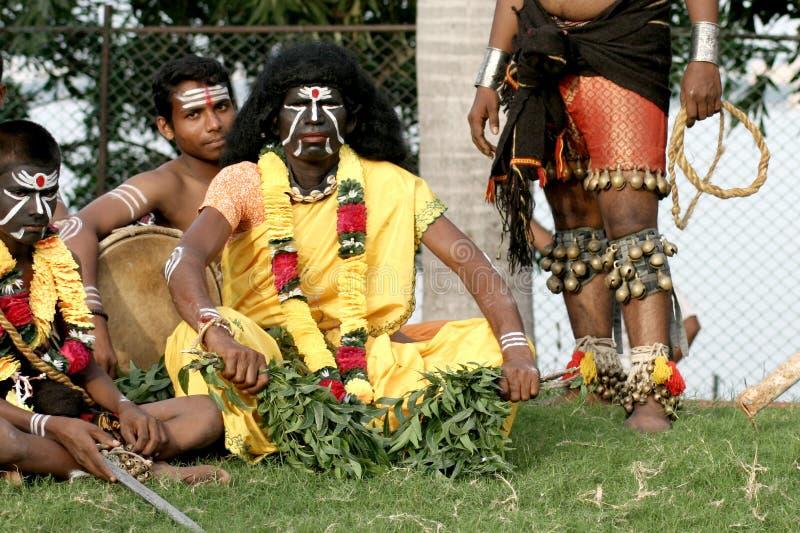 Ballerini tribali indiani fotografia stock