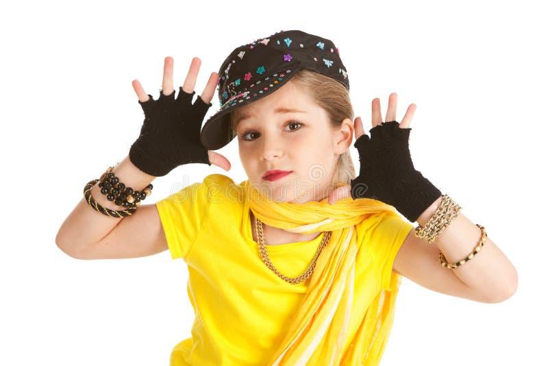 Ballerino: Ballerino hip-hop Makes Jazz Hands immagini stock