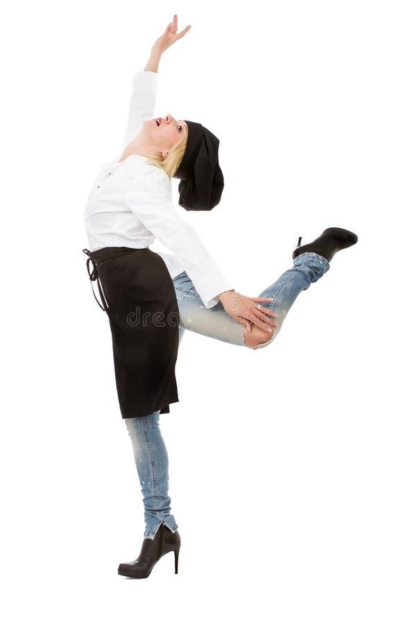 Ballerino del cuoco unico della donna fotografie stock libere da diritti