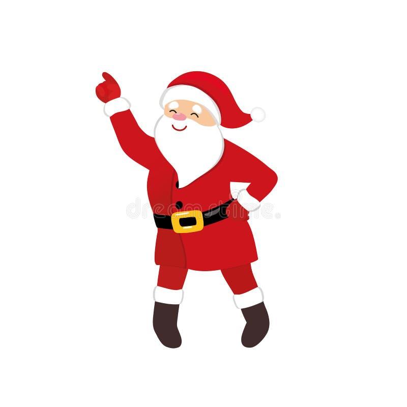 Ballerino della discoteca di Santa del fumetto, carattere comico originale di animazione, vettore isolato illustrazione vettoriale