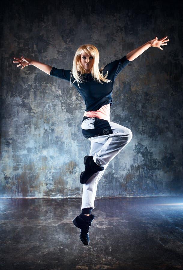 Ballerino della giovane donna fotografia stock libera da diritti