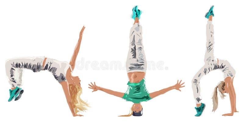 Ballerino della giovane donna illustrazione di stock