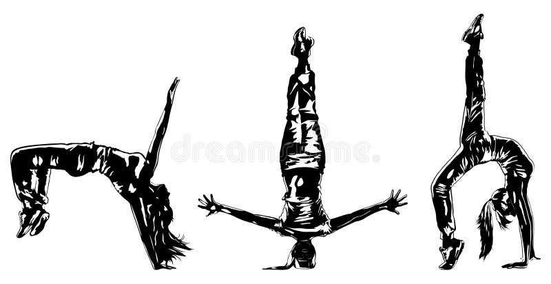 Ballerino della giovane donna illustrazione vettoriale