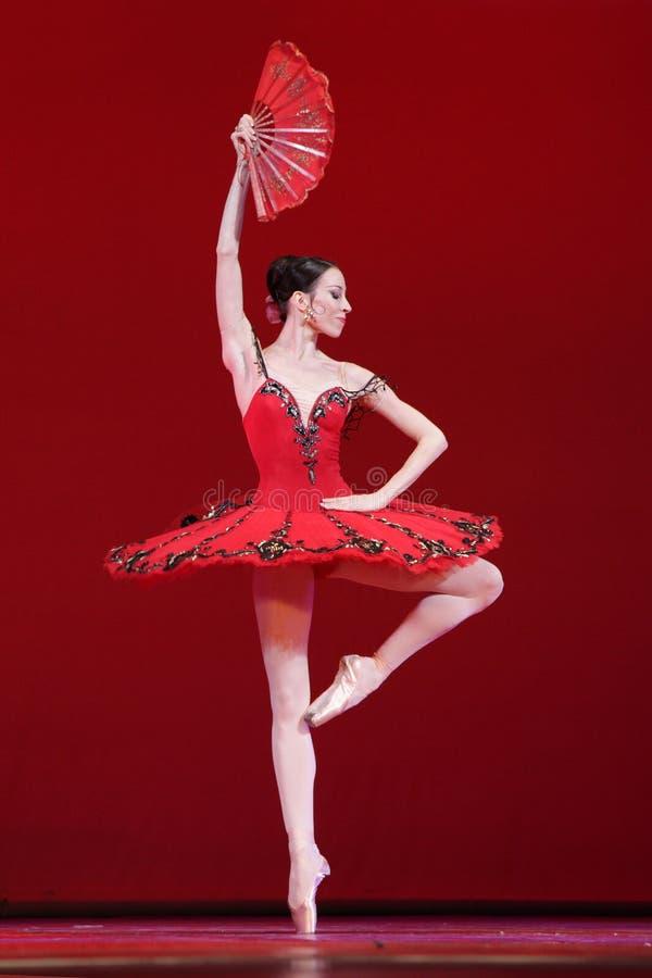 Ballerino di balletto, ballerina di prima del teatro Victoria Ter di Mariinsky fotografie stock