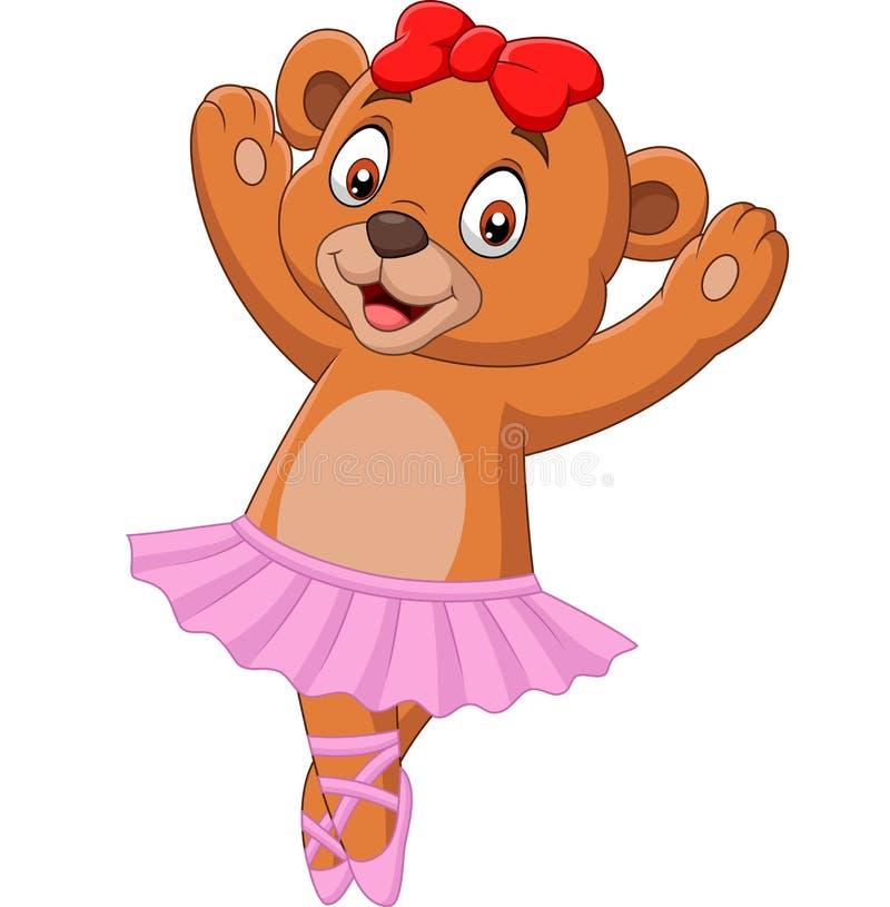 Ballerino di balletto dell'orso del bambino del fumetto illustrazione vettoriale