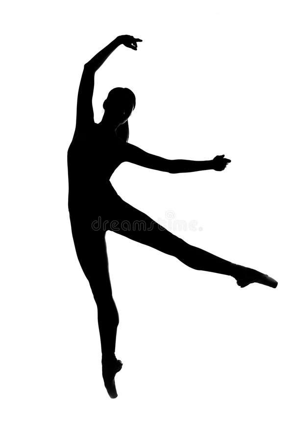 Ballerino di balletto della siluetta immagine stock