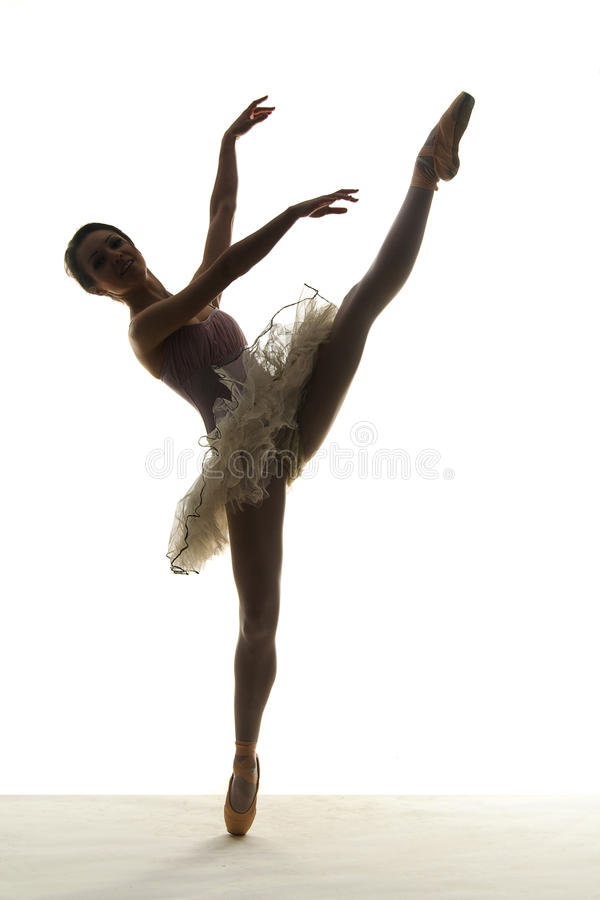 Ballerino di balletto della siluetta immagine stock libera da diritti