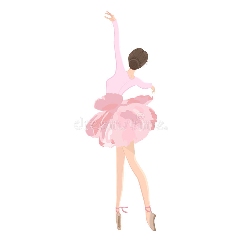 Ballerino di balletto in gonna del tutu del fiore illustrazione di stock