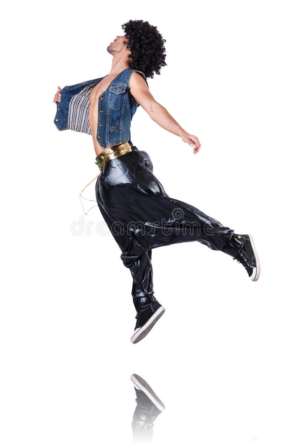 Ballerino Di Colpo Secco In Ampi Pantaloni Immagine Stock Libera da Diritti