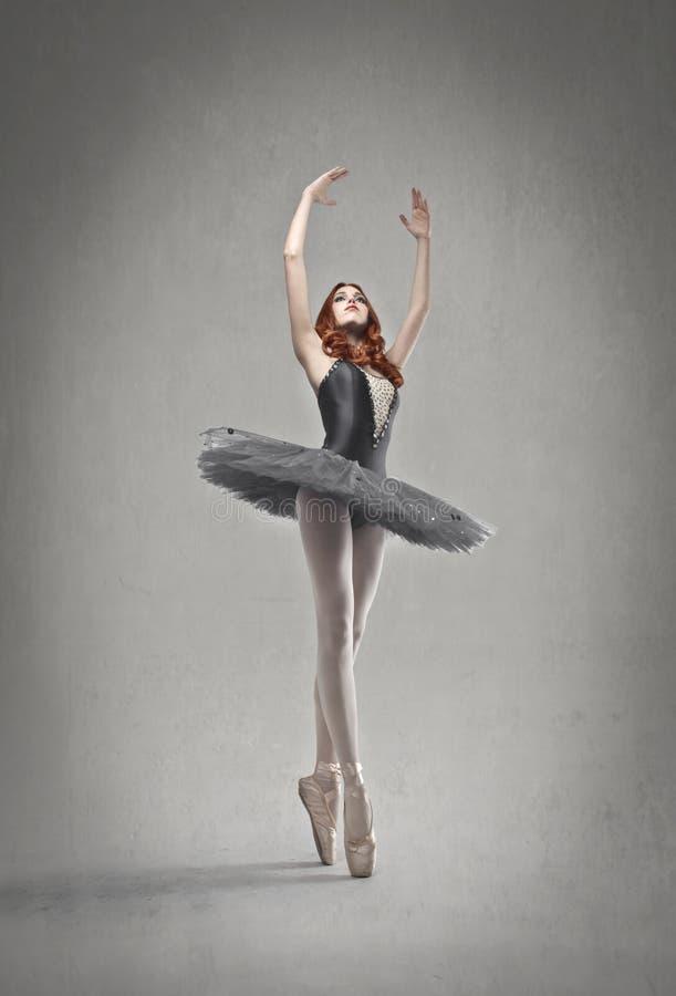 Ballerino grigio fotografia stock