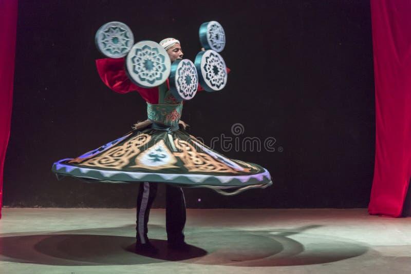 Ballerino Hurghada Egypt del derviscio immagine stock libera da diritti