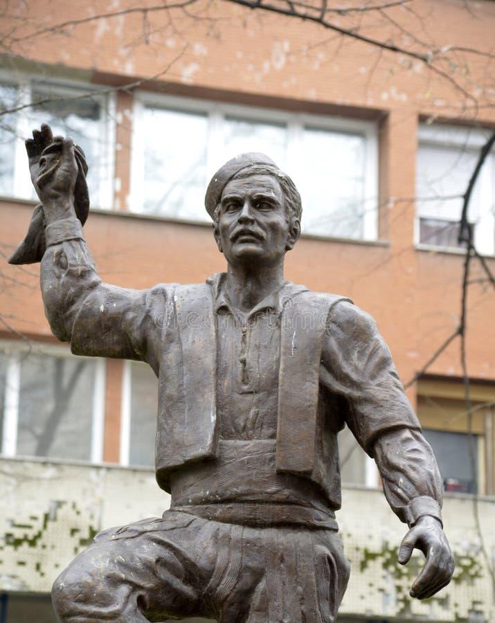 Ballerino macedone tradizionale, statua fotografia stock libera da diritti