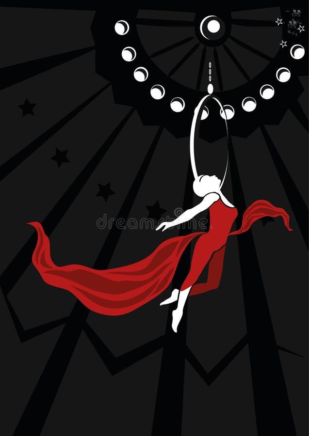Ballerino relativo alla ginnastica aereo royalty illustrazione gratis