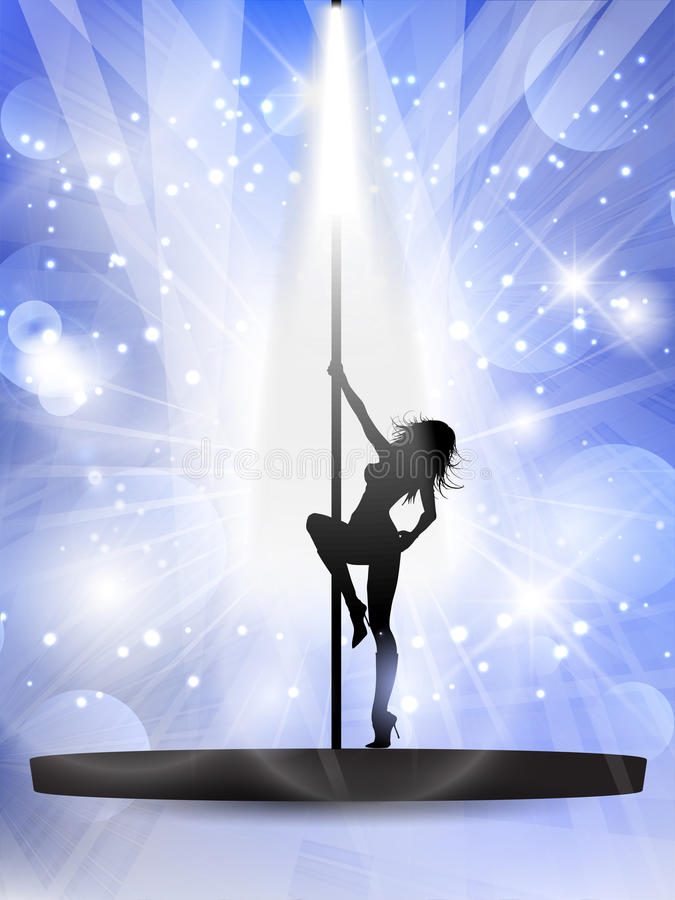Ballerino sexy del palo royalty illustrazione gratis