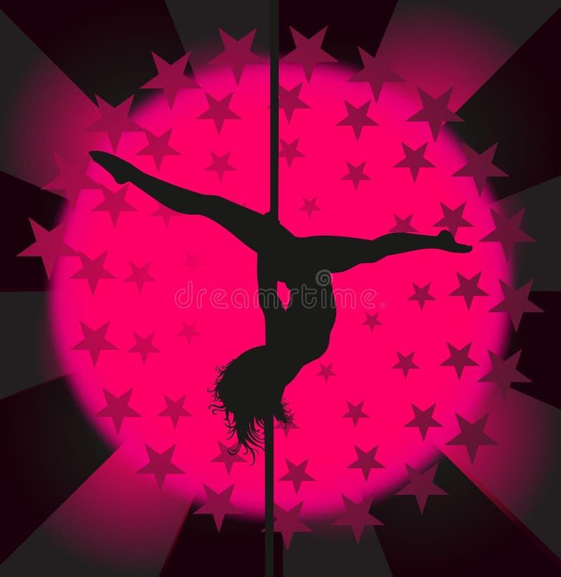 Ballerino sexy del palo - vettore illustrazione vettoriale