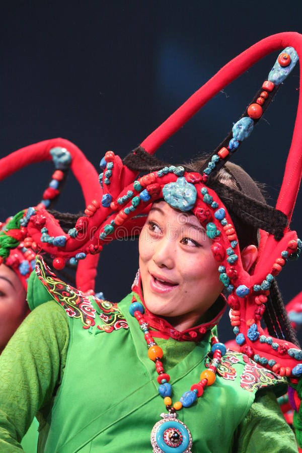 Ballerino tibetano immagine stock