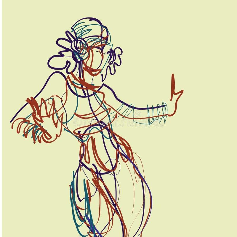 Ballerino tribale dello zingaro di fusione royalty illustrazione gratis