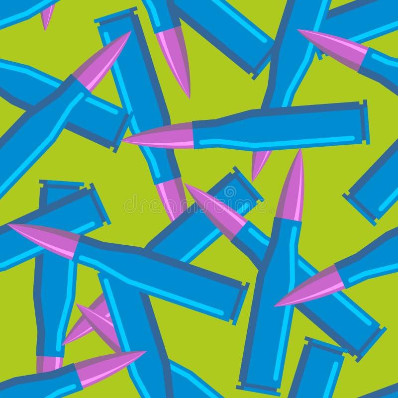 Balles colorées pour des hippies Texture militaire bleue de munitions illustration libre de droits