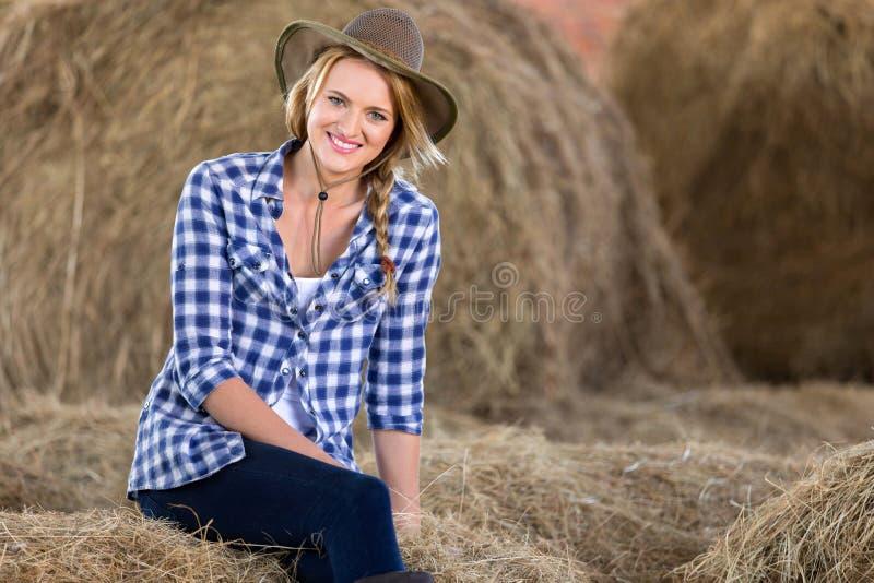 Balles de foin de cow-girl image libre de droits