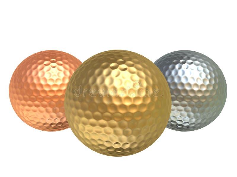 balles de golf illustration libre de droits