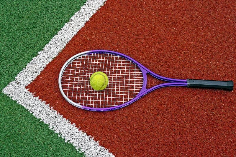 Balles de tennis et Racket-4 photo stock