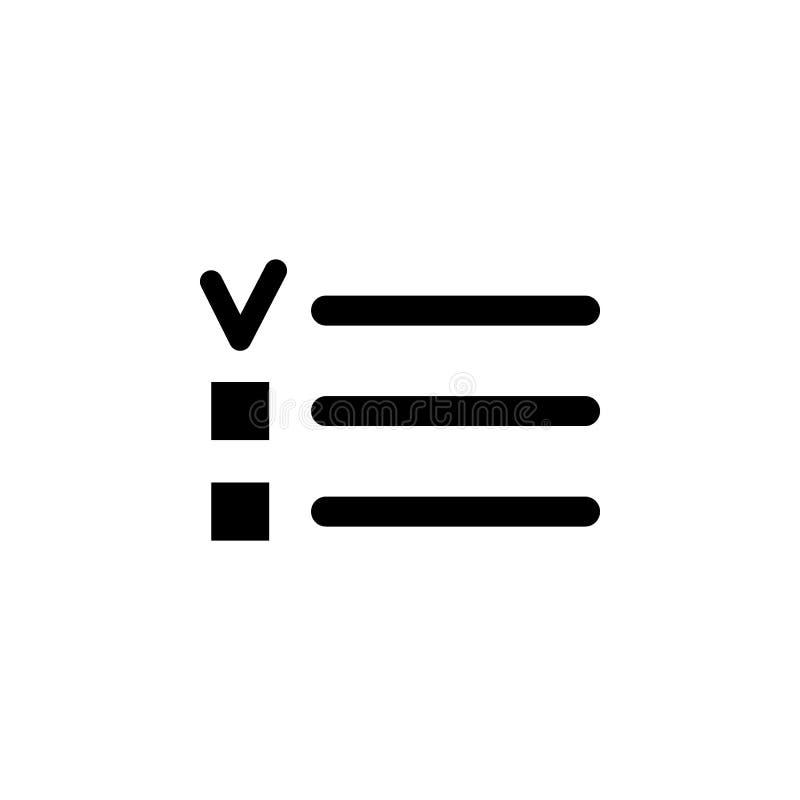 Balles, icône de liste de checkbox Des signes et les symboles peuvent être employés pour le Web, logo, l'appli mobile, UI, UX illustration libre de droits