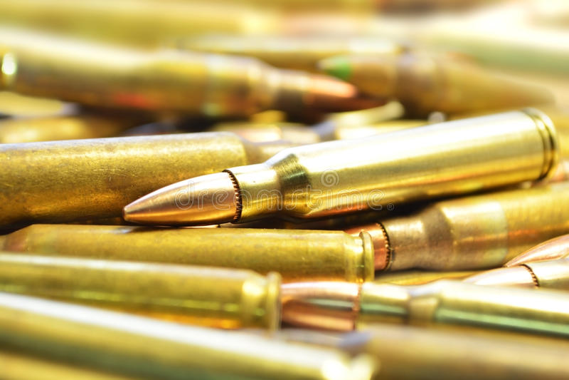 Balles M16 image libre de droits