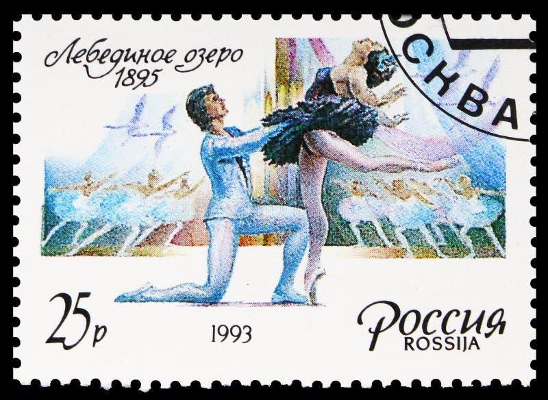Ballet 'Swan Lake', 1895, série de balé russa, cerca de 1993 fotografia de stock