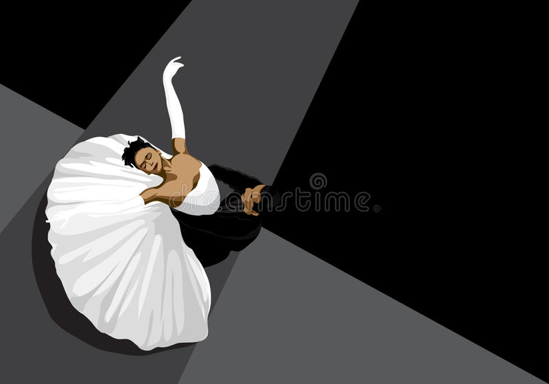 Ballet illustration stock