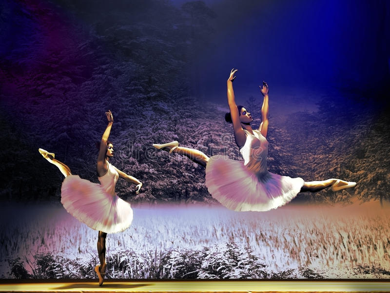 ballet ilustração stock