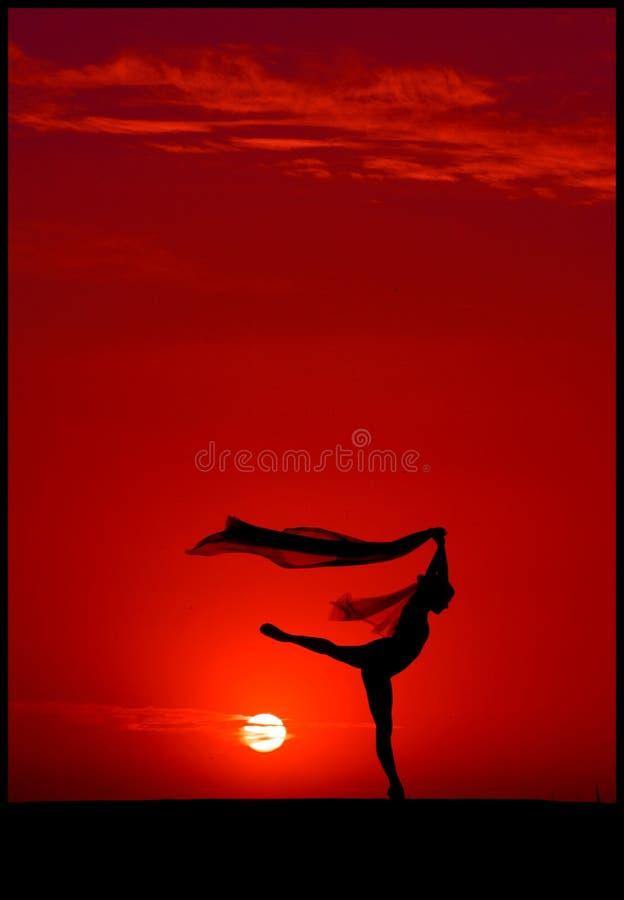 Ballet au coucher du soleil photos stock