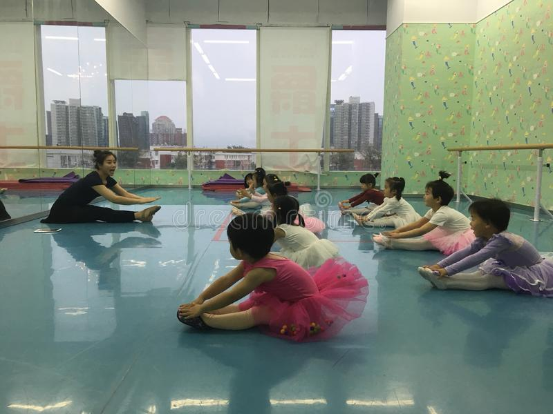 Ballet class and classroom royalty free stock photos