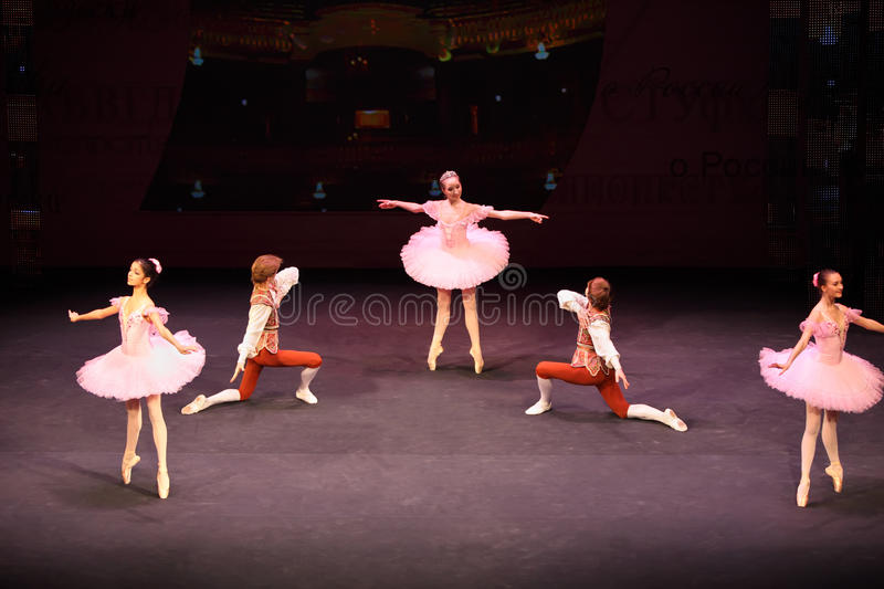 Ballet at concert of Gennady Ledyakh School stock photo